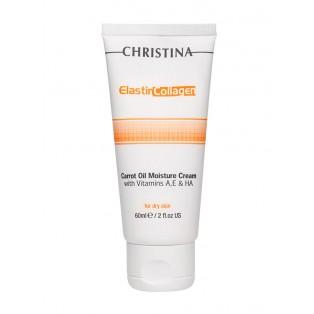 Увлажняющий крем с морковным маслом для сухой кожи Christina Elastin Collagen Carrot Oil Moisture Cream