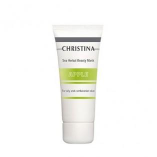 Яблочная маска красоты для жирной кожи Christina Sea Herbal Beauty Mask Green Apple