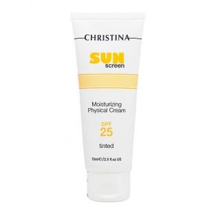 Солнцезащитный крем с витамином Е Christina SunScreen Moisturizing Cream With Vitamin E Physical SPF25 Tinted