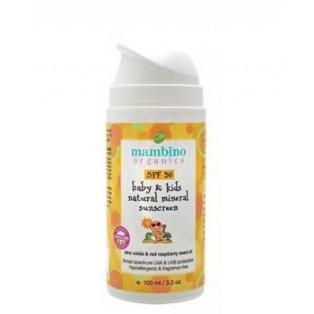 Mambino Organics Детский натуральный минеральный солнцезащитный крем SPF 30