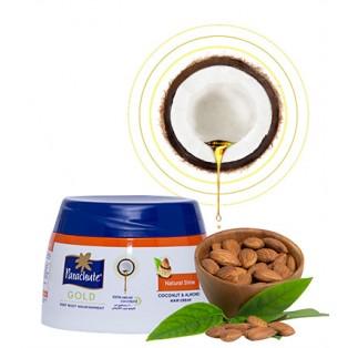 Кокосовый Крем для блеска волос с экстрактом Миндаля Parachute Gold