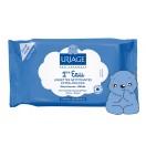 Очищающие салфетки для детей и новорожденных «Первая вода» Uriage Baby 1st Water Extra-Gentle Cleansing Wipes