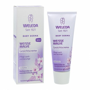 Детский крем для лица с алтеем для гиперчувствительной кожи - Weleda Weisse Malve Gesichtscreme