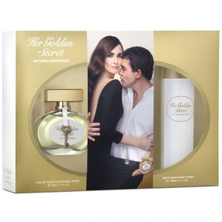Antonio Banderas Her Golden Secret - Набор (edt 50ml + b/lot 100ml)