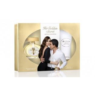 Antonio Banderas Her Golden Secret - Набор (edt 80ml + b/lot 100ml) - потертые