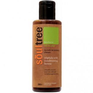 Органический шампунь Soultree для восстановления волос с Трифалой и кондиционером из Хны, 200 мл